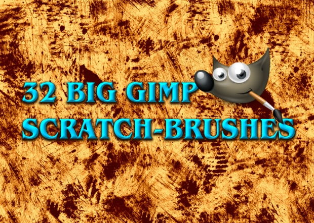 scratch photoshop and gimp brushes