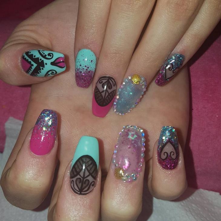 21 aquarium nail art designs ideas design trends for Decorative nails