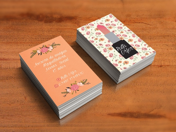 floral print business card design