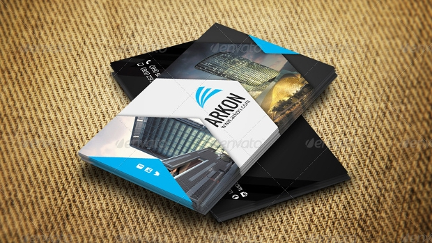 modern architect business card design