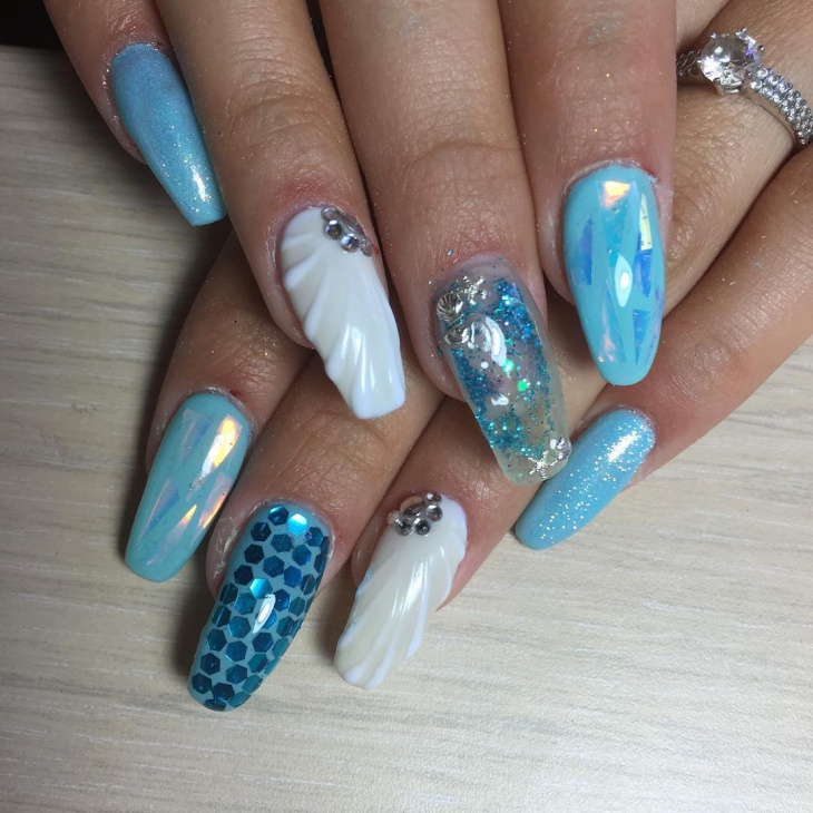 21+ Aquarium Nail Art Designs, Ideas