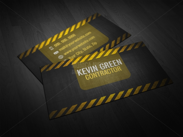 construction contractor business card