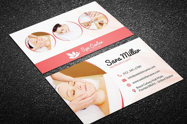 beauty therapy business card