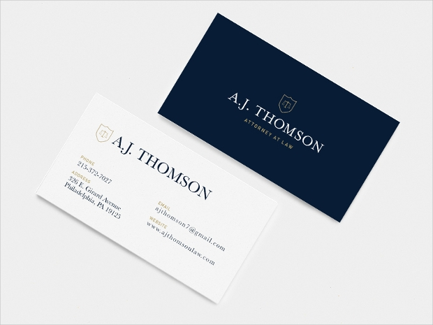 attorney lawyer business card design