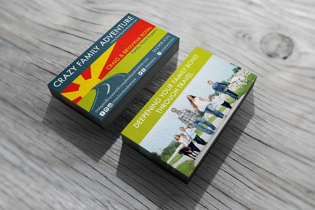 Adventure Travel Business Card design
