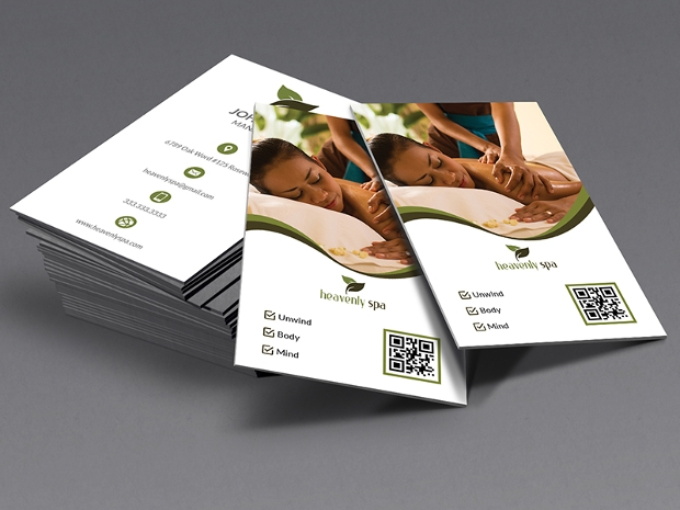 spa business card design