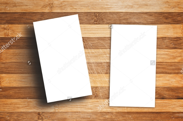 Blank Vertical Business Card Template1