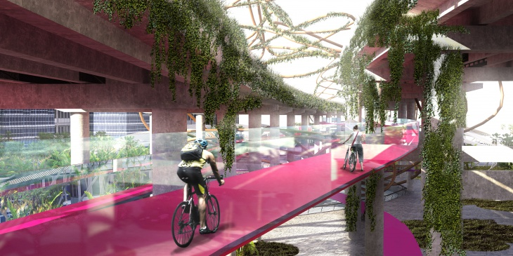 Skyride – Elevated Cycling Lanes