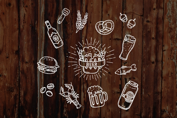 hand drawn beer icons