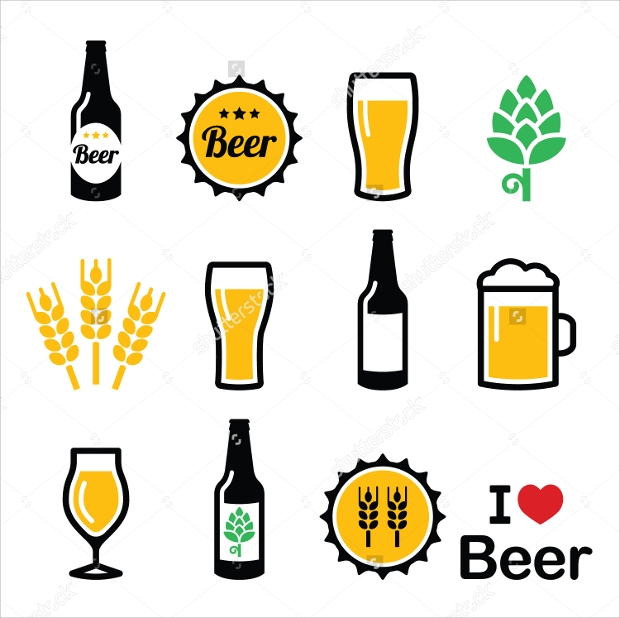 high resolution vector beer icons