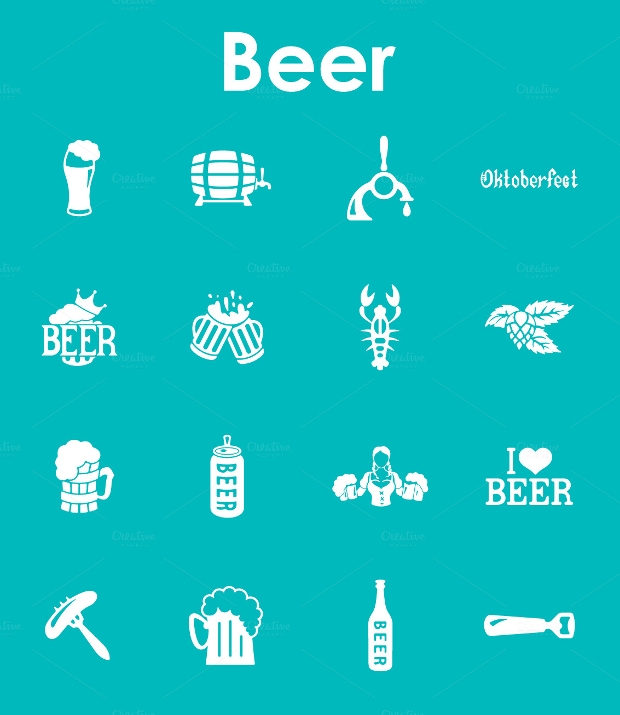 Simple Beer Icon Set