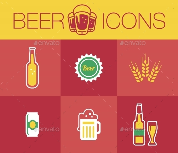 Realistic Beer Icons Collection
