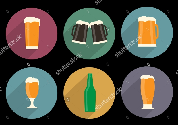 Vector Set of Beer Icons