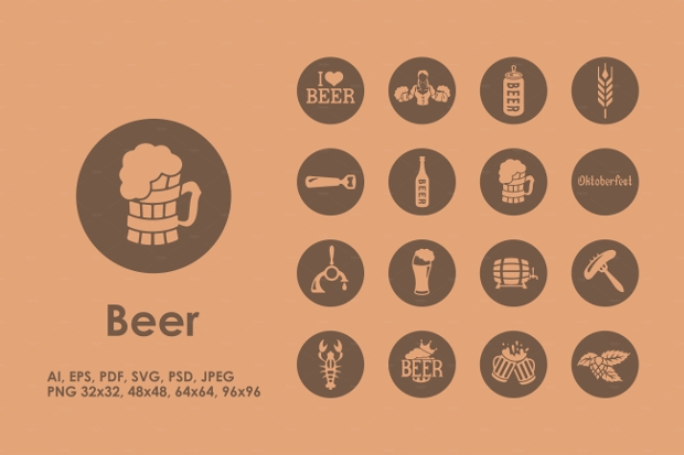 Vintage Beer Icons