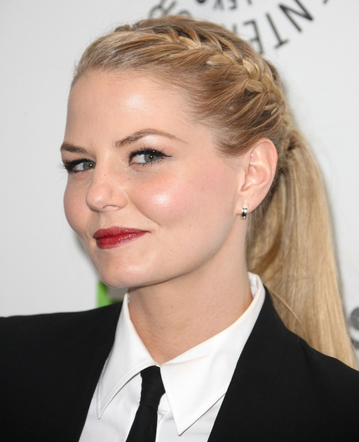 jennifer morrison lace braid ponytail