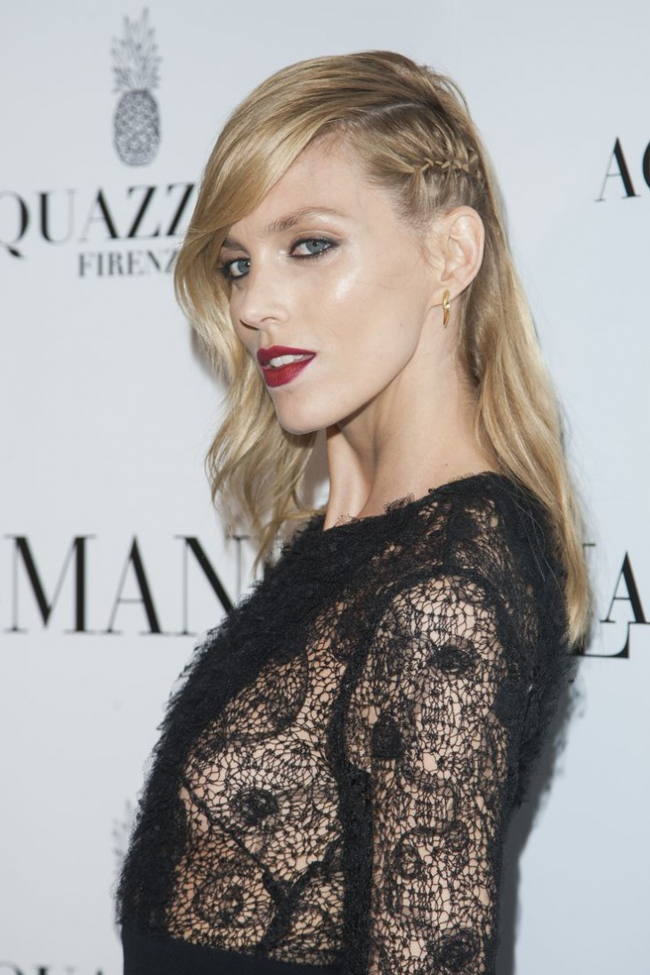anja rubik side lace braided hairstyle