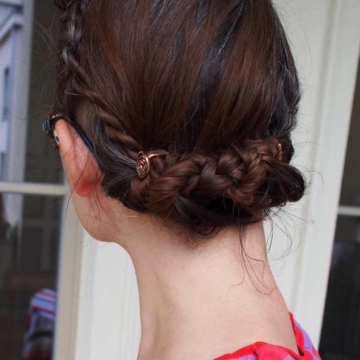 french lace braided hairdo