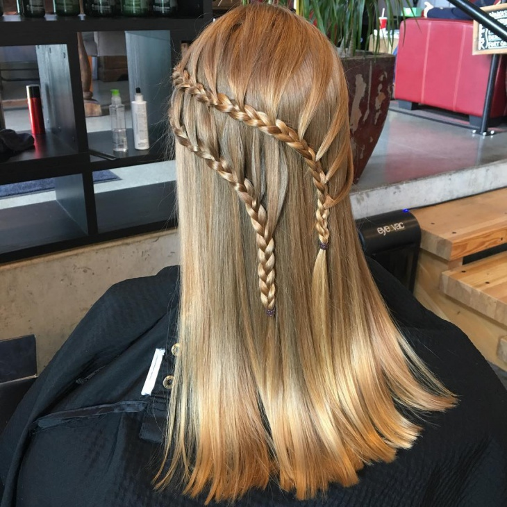 blonde lace braid hairstyle