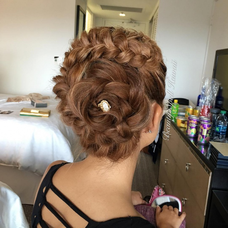 flower bun hairstyle design