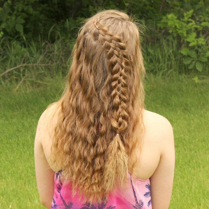 curly lace braided hairstyle