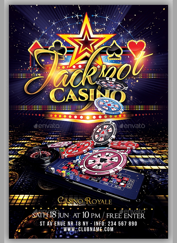 20  casino flyer templates