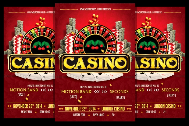 Casino Flyer Templates  Printable Psd Ai Vector Eps Format