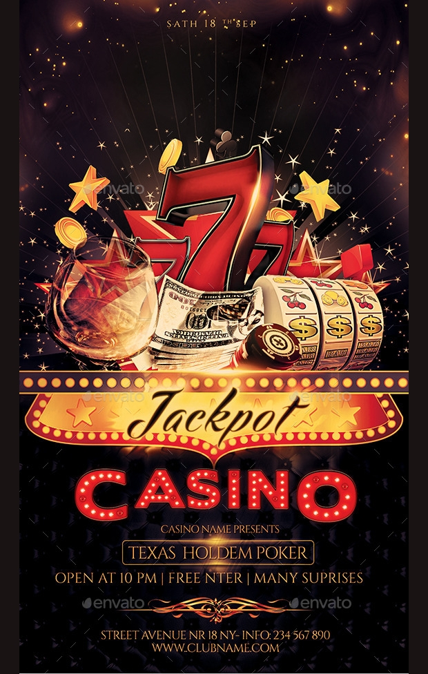 Jackpot Casino Flyer PSD