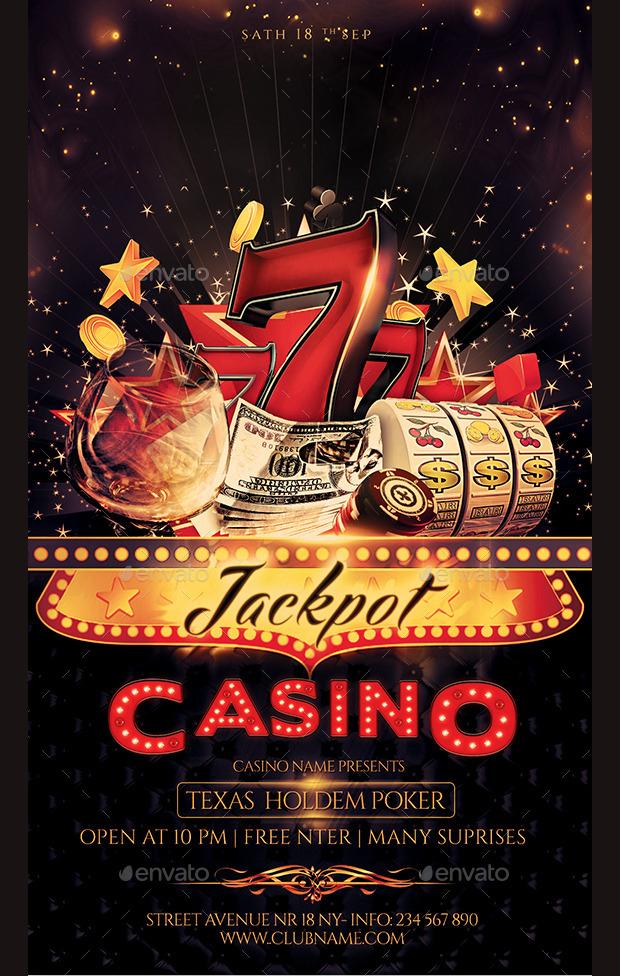 jackpot casino flyer psd