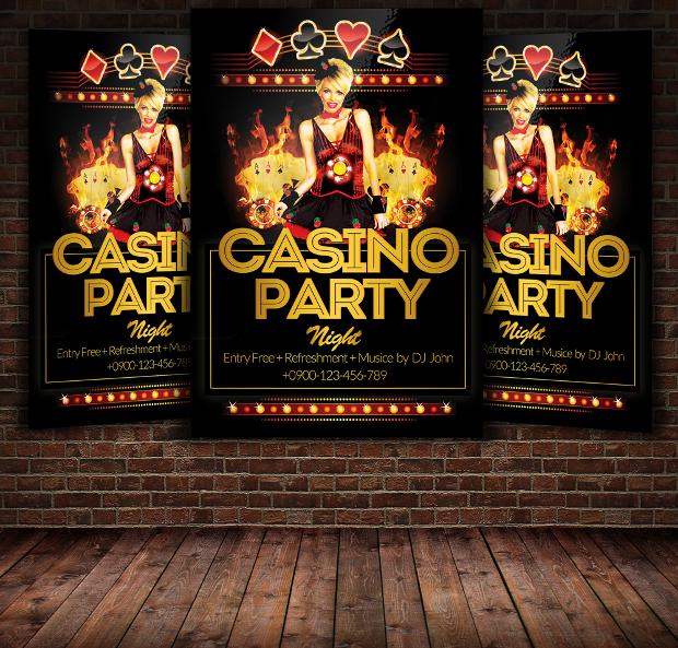 18  casino flyer templates