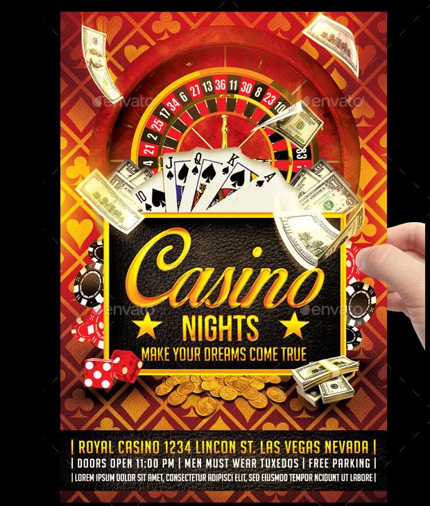 colorful casino flyer design