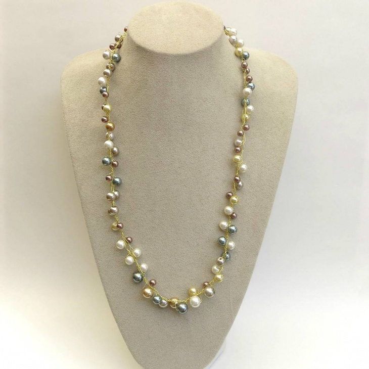 long beaded necklace idea - Jewelry Design Ideas