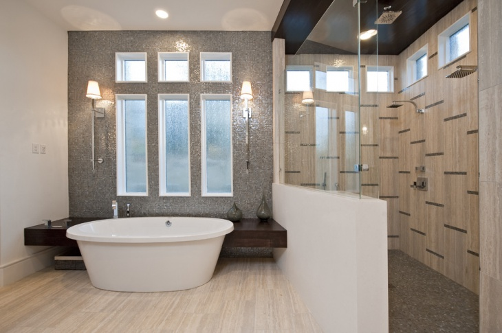 Bathtub Half Wall Idea