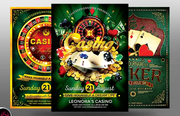 Poker and Casino Flyer