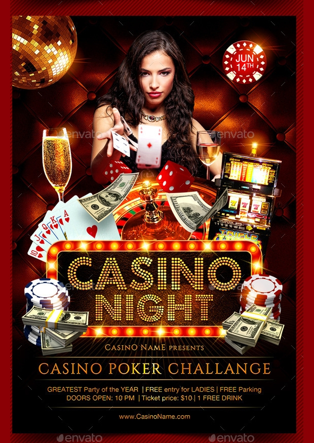 Casino Night PSD Flyer
