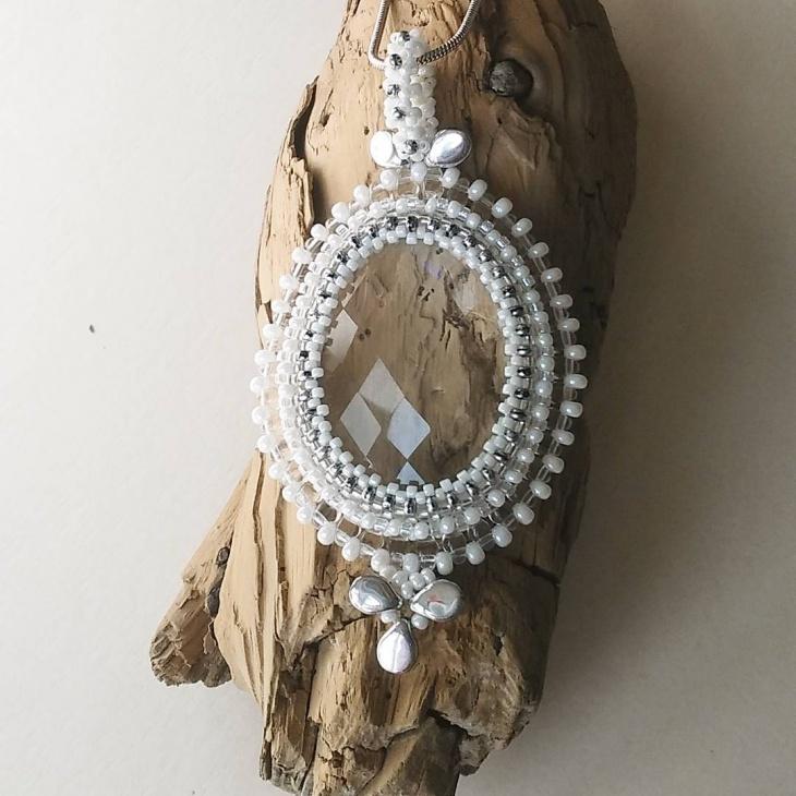 Beautiful White Beaded Pendant