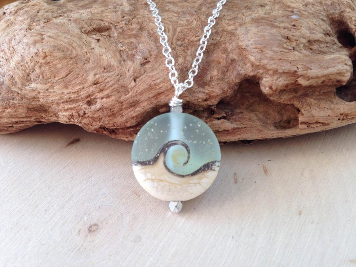 Ocean Wave Necklace Pendant