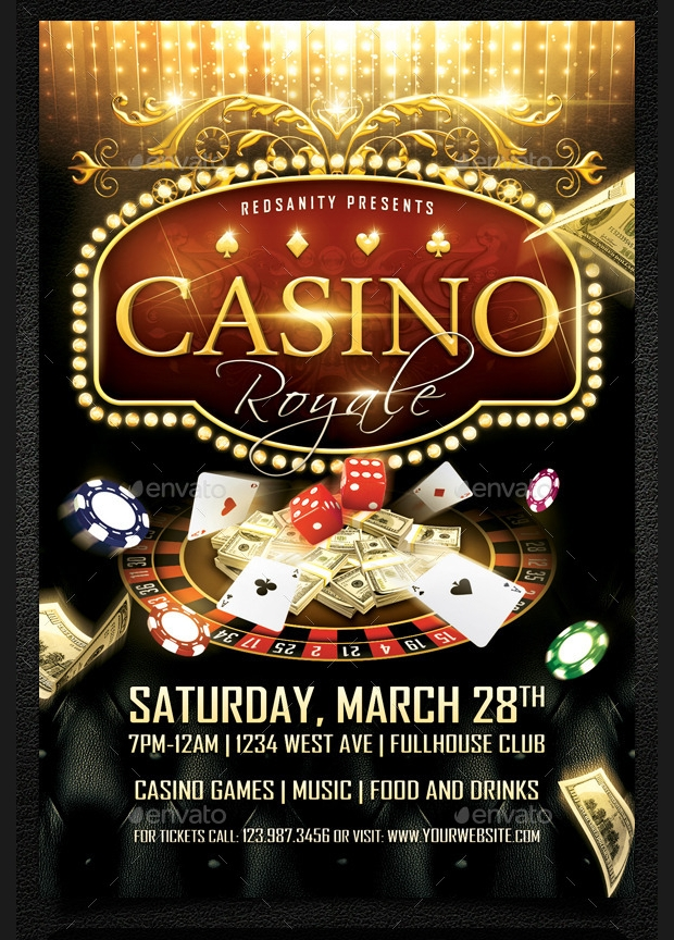 Casino Royal Flyer PSD Template