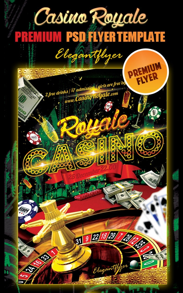 Casino Club Flyer PSD Template