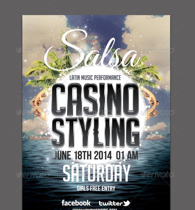 salsa casino flyer template