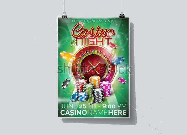 casino party flyer design
