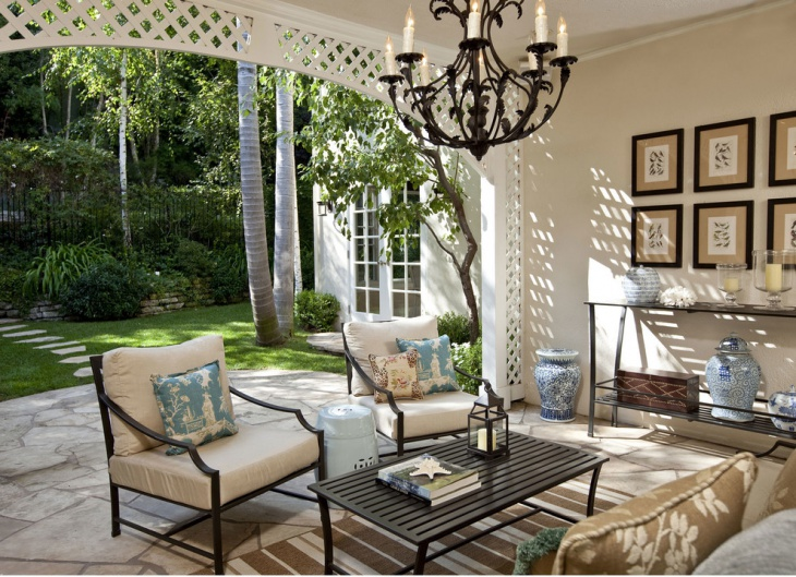 Perfect Wrought Iron Outdoor Chandelier