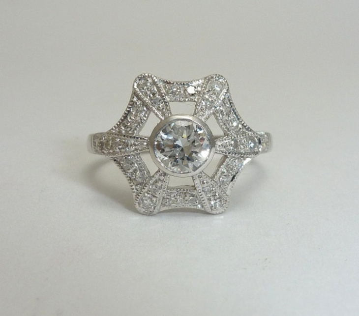 platinum snowflake ring