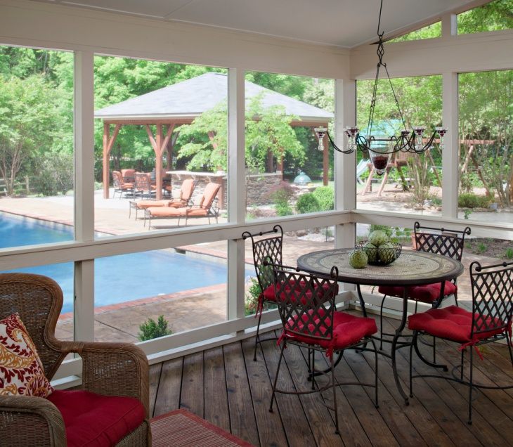 outdoor deck chandelier idea