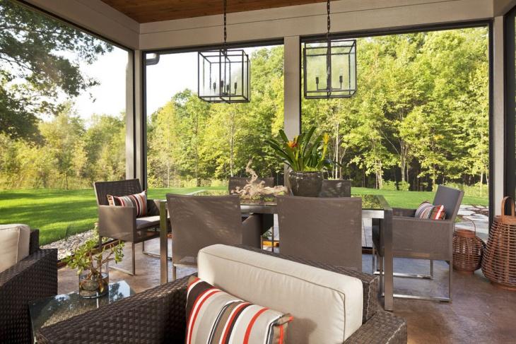 hanging outdoor chandelier idea