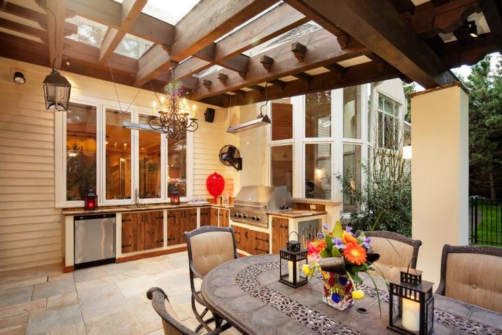 outdoor living chandelier idea