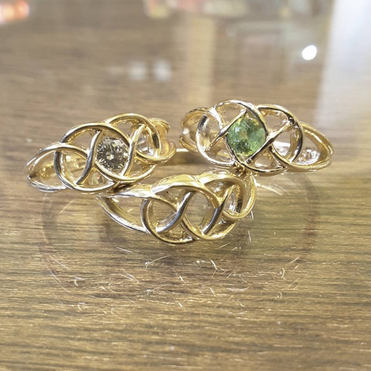 Gold Celtic Rings Idea