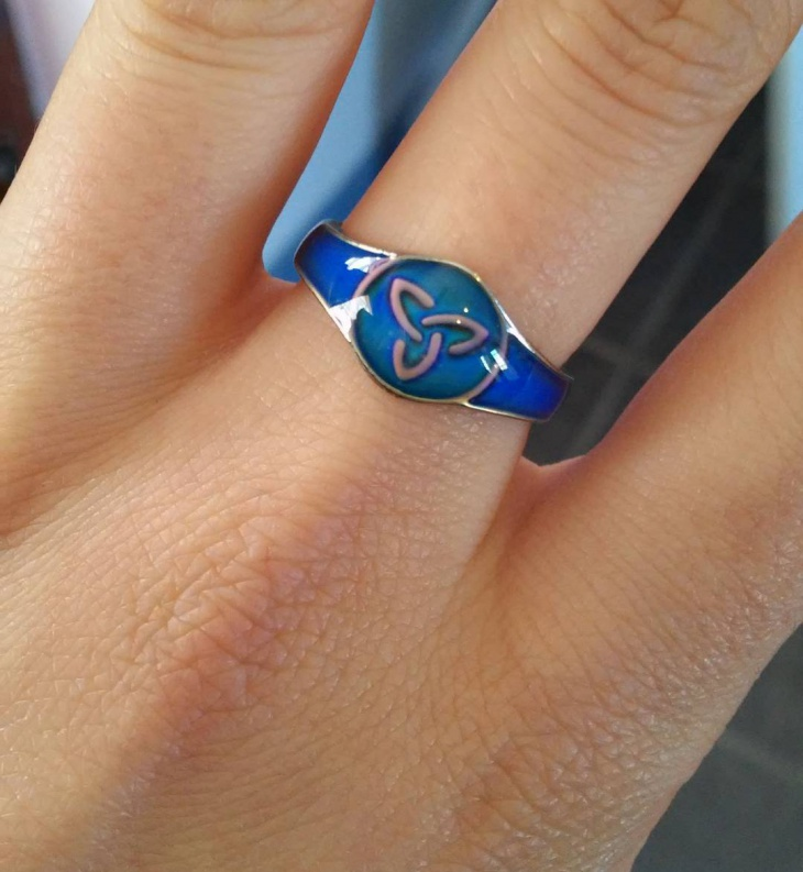 Blue Color Celtic Ring Idea