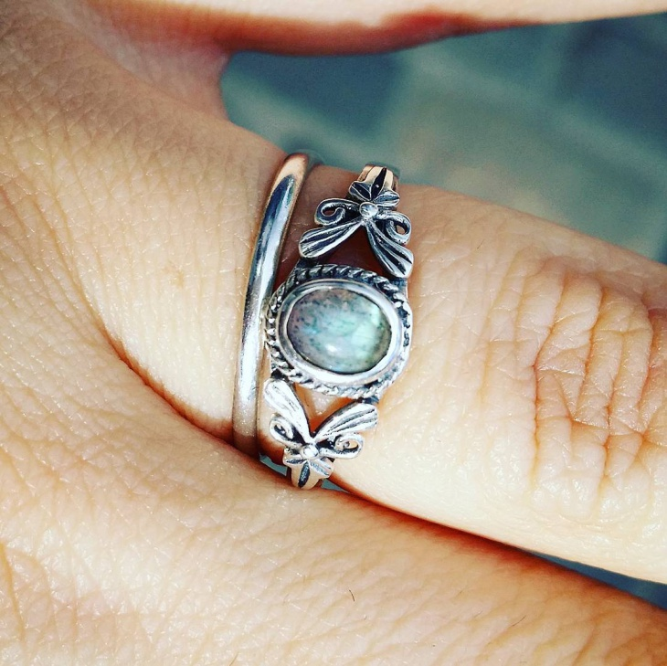 Moonstone Celtic Ring