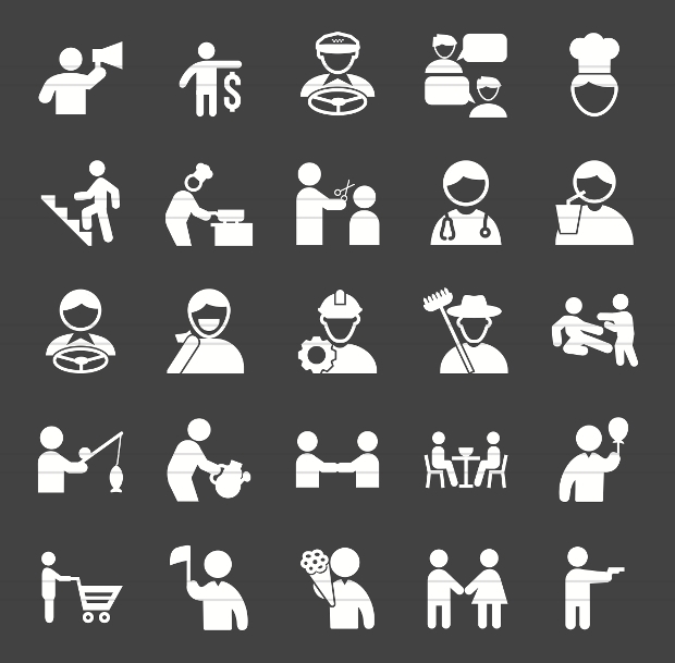 Activity Glyph Inverted Vector Icons