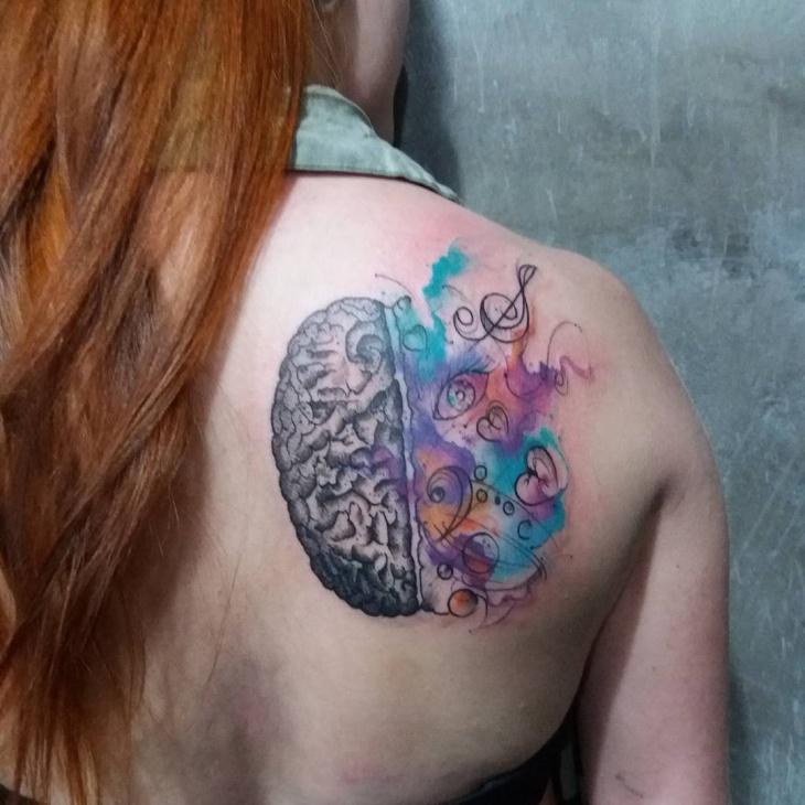 Music Brain Tattoo Idea